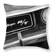 1970 Dodge Challenger Rt Convertible Grille Emblem Throw Pillow