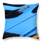 1971 Dodge 426 Hemi Challenger Rt Hood Emblem Throw Pillow
