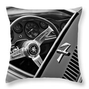 1971 Iso Grifo Can Am Steering Wheel Emblem Throw Pillow