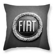 1972 Fiat Dino Spider Emblem Throw Pillow
