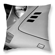 1973 Ferrari 246 Dino Gts Hood Emblem Throw Pillow