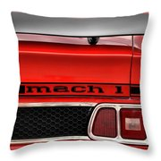 1973 Ford Mustang Mach 1 Throw Pillow