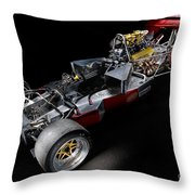 1974 Lola T332  F5000 Race Car V8 5 Litre Chassis Throw Pillow
