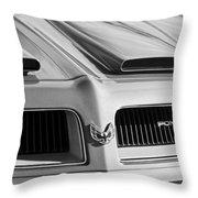 1974 Pontiac Firebird Grille Emblem Throw Pillow
