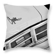 1975 Chevrolet Caprice Classic Convertible Taillights Emblem Throw Pillow