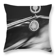 1979 Clenet Hood Ornament -183c Throw Pillow