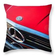 1984 Mercedes 500 Sl Convertible Throw Pillow