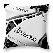 1993 Ducati 900 Superlight Motorcycle Throw Pillow