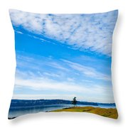 #2 At Chambers Bay Golf Course - Location Of The 2015 U.s. Open Tournament Throw Pillow