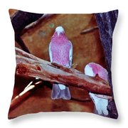 2 Birds Throw Pillow