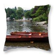 2 Little Boats Throw Pillow
