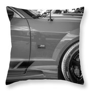 2006 Ford Saleen Mustang Bw Throw Pillow