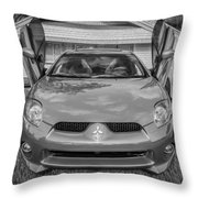 2006 Mitsubishi Eclipse Gt V6 Painted Bw Throw Pillow