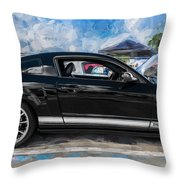 2007 Ford Mustang Shelby Gt Painted Throw Pillow