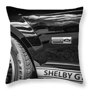 2007 Ford Mustang Shelby Gt500 Painted Bw  Throw Pillow