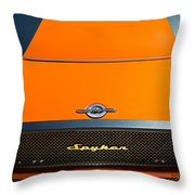 2009 Spyker C8 Laviolette Lm85 Grille Emblem Throw Pillow