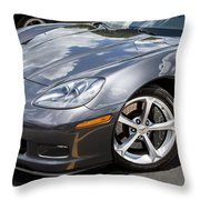 2010 Chevy Corvette Grand Sport Throw Pillow