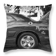 2010 Plymouth Superbird Bw  Throw Pillow