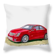 2013 Cadillac C T S  V Throw Pillow