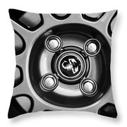 2013 Fiat Abarth Wheel Emblem Throw Pillow