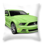 2013 Ford Mustang Gt 5.0 Sports Car Throw Pillow