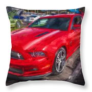 2013 Ford Mustang Gt Cs Painted  Throw Pillow
