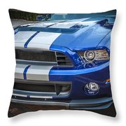 2013 Ford Mustang Shelby Gt 500  Throw Pillow