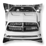 2014 Dodge Charger Rt Painted Bw Throw Pillow