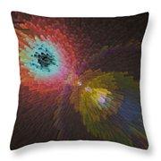 3d Dimensional Art Abstract Throw Pillow