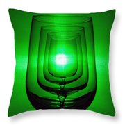 4 Wine Glasses Throw Pillow