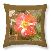 4th Of July Rose Throw Pillow