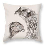 51. Game Hens Throw Pillow