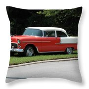 55 Chevy Throw Pillow