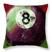 8 Ball Billiards Abstract Throw Pillow
