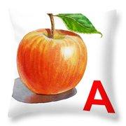 A Art Alphabet For Kids Room Throw Pillow