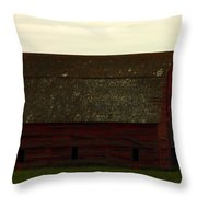 A Barn In Saskatchewan Throw Pillow