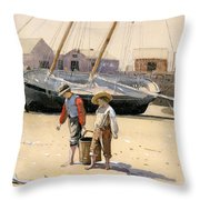 A Basket Of Clams Throw Pillow