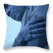 A Blue Martin Luther King - 2 Throw Pillow