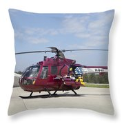 A Bo 105pah Helicopter Of The German Throw Pillow