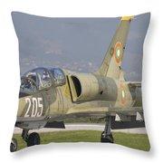 A Bulgarian Air Force L-39 Albatros Throw Pillow