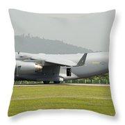 A C-17 Globemaster IIi Of The U.s. Air Throw Pillow