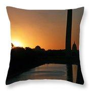 A Capitol Sunrise Throw Pillow