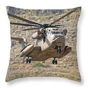A Ch-53 Yasur 2000 Of The Israeli Air Throw Pillow