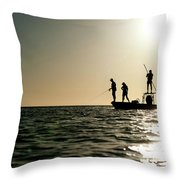 A Couple Fish As A Man Pilots A Small Throw Pillow