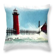 A Day At The Coast Throw Pillow