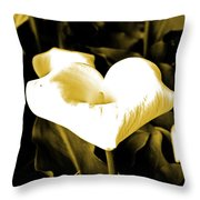 A Flower In The Shadows Throw Pillow