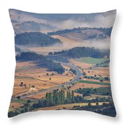 A Foggy Day Throw Pillow