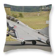 A French Air Force Rafale Jet Throw Pillow