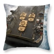 A Landing Craft Air Cushion Exits Throw Pillow