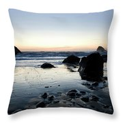 A Landscape Of Rocks On The Coast Throw Pillow